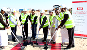 Ground breaking ceremony of new corporate office and logistics centre.