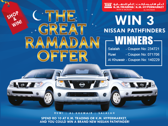 The Great Ramadan offer 2012-Oman Region-Winners