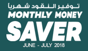 Monthly Money Saver June - July 2018