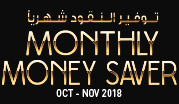 Monthly Money Saver March - October - November